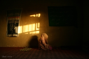 A woman prays inside one of the mosques in Mazari Sharif. During election 2010 I have been visiting Mazar Sharif to follow up the election campaign.