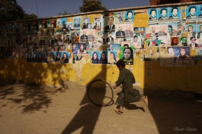 2010, Afghanistan election.The campaign period kicked off on June 23 and ran until September 16. On June 23, 2010, the full list of candidates was announced; 2,577 candidates filed to run, 405 of them women.The cycle of democracy is repeating every 4 years.