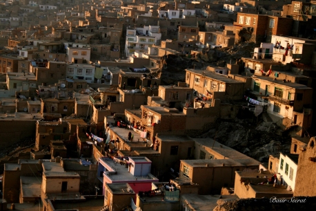 Kabul City, the west of Kabul the locals who made their houses on the mountains.A lack of affordable housing has become one of the biggest social problems in Kabul, as the population of the city rises rapidly due to ever-increasing migration.